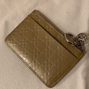 Small coin purse with key ring